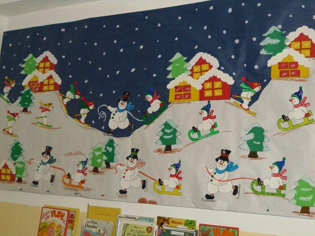 Peri dico mural para diciembre marbe giles - Mural navidad infantil ...